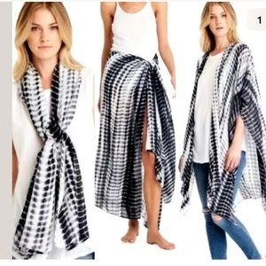 🔴Michael Stars ruana wrap scarf sarong tie dye